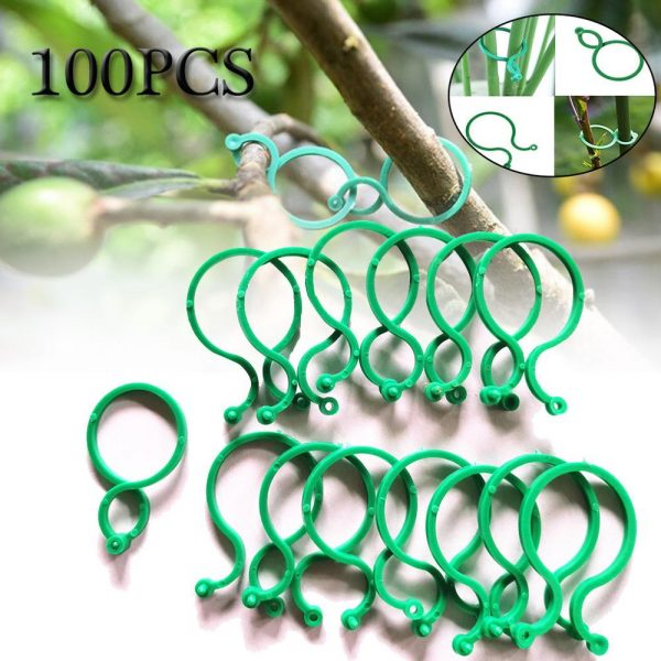 100/50 PCS Plant Support Clips Garden Clips Flower Orchid Stem Clips for Vine Suppor Plant Grafting Stakes Connector Clip SD