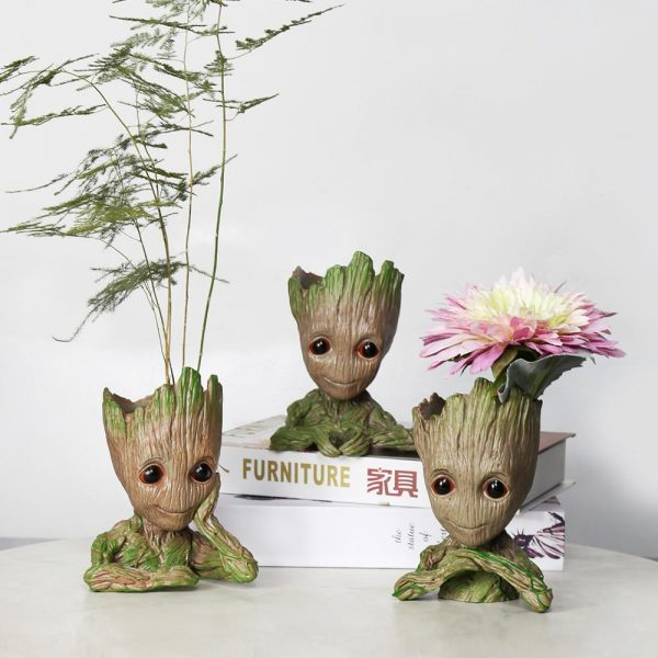 Baby Groot Flowerpot plant pot stand pots for flowers Groot pan holder Home Decoration