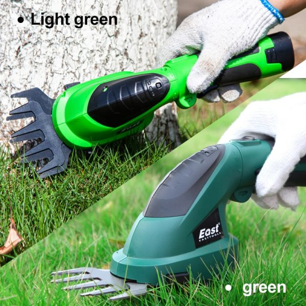 East 7.2V Li-ion Grass Trimmer Electric Hedge Trimmer 2 in 1 Lawn Mower Garden Tools Pruning Shears Garden Scissors ET1511C