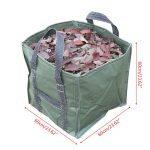 252L Reusable Garden Leaf Bag Reusable Folding Gardening Container with Handles for Lawn Yard Waste