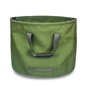33 Gallons Green Foldable Waterproof Canvas Heavy Duty Garden Waste Bags For Collect Branches, Leaves And Other Garden Waste