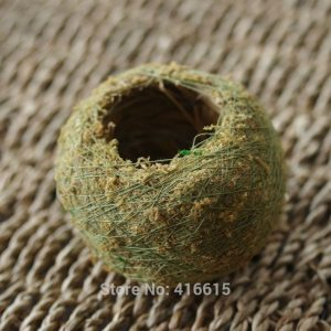 Kokedama Moss Balls Japanese Moss Ball With Moss Seeds Personality Small Ventilate Flower Pot for Orchid and Bonsai