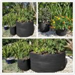 3/5/7/12/15/17/20/30/34 Gallon Round Fabric Pots Plant Pouch Root Container with Handles Black Grow Bag Aeration Pot Container
