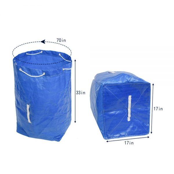 Garden Waste Bag Large Capacity Reusable Leaf Bags Garden Waste Bags Collapsible Gardening Containers for Lawn and Yard Waste