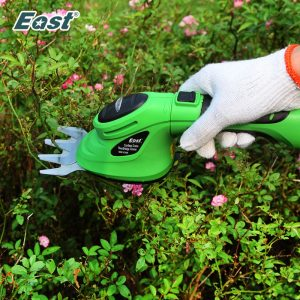 East 3.6V Li-Ion Cordless Electric Hedge Trimmer Grass Cutter Mini Lawn Mower Rechargeable Battery Garden Tool ET2903C